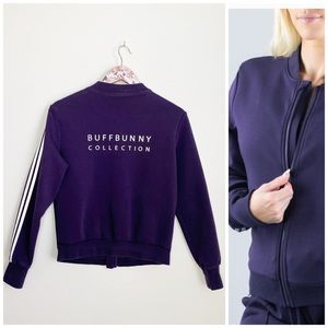 BUFFBUNNY Collection Purple Bomber Jacket L